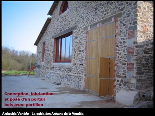portail bois dans le secteur de Montaigu 85600